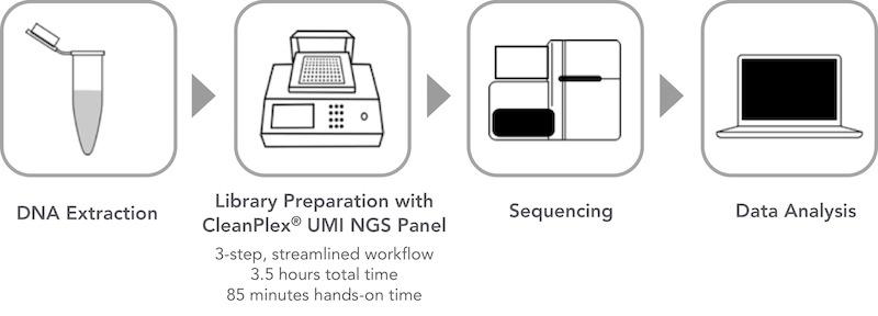 CleanPlex UMI Unique Molecular Barcode Amplicon Sequencing Workflow